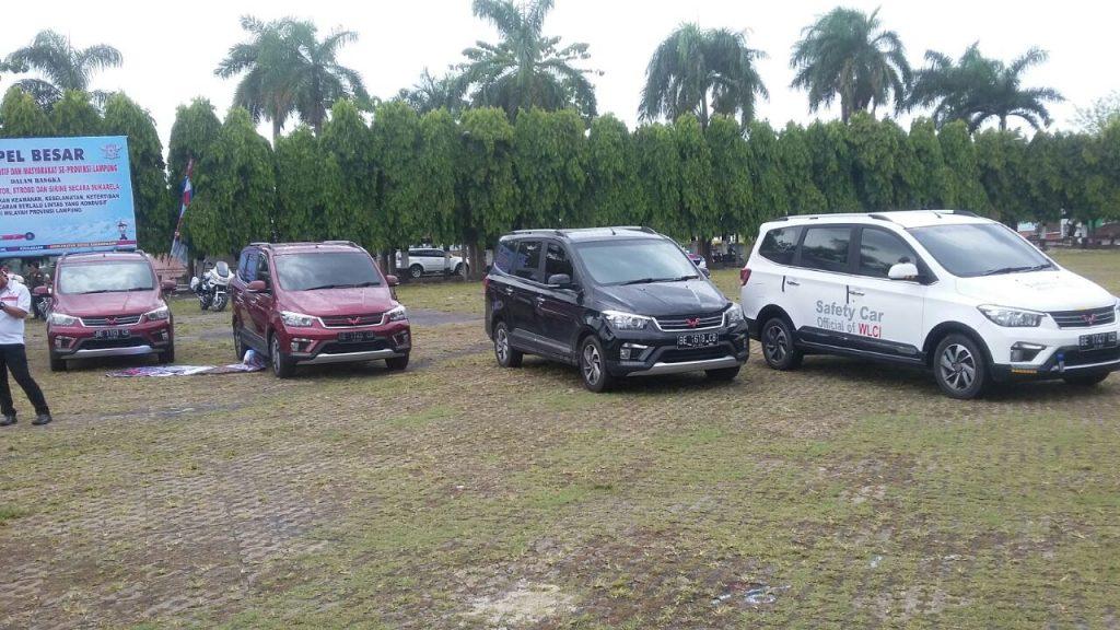 Konvoi Tim WuLing CLUB Indonesia Chapter Lampung Hadiri Apel Besar Komunitas R2 dan R4 se-Provinsi Lampung